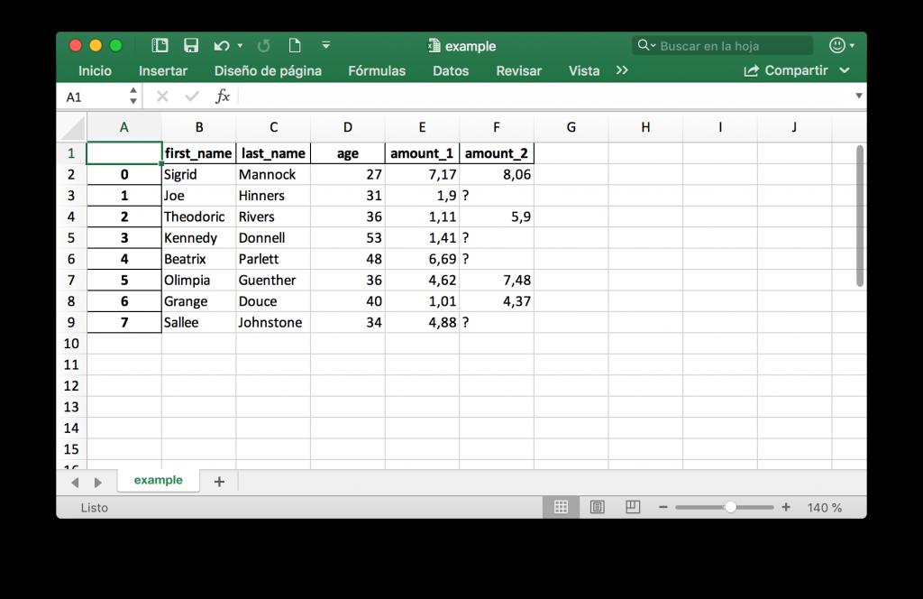 Ejemplo archivo Excel