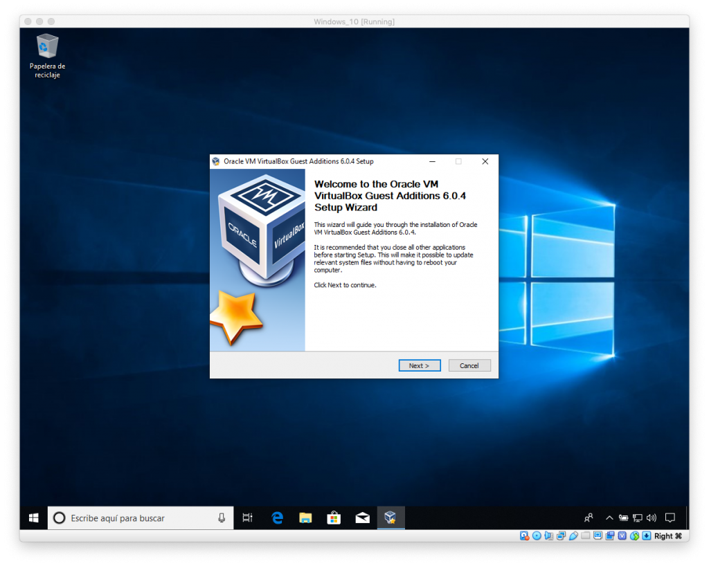 Instalación VirtualBox y Guest Additions