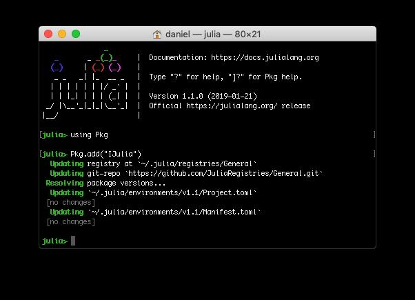Instalación de Julia en Jupyter Notebook