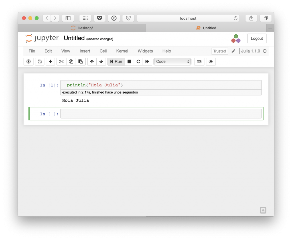 Julia en Jupyter Notebook