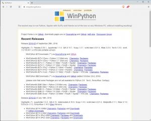 Página web del proyecto WinPython