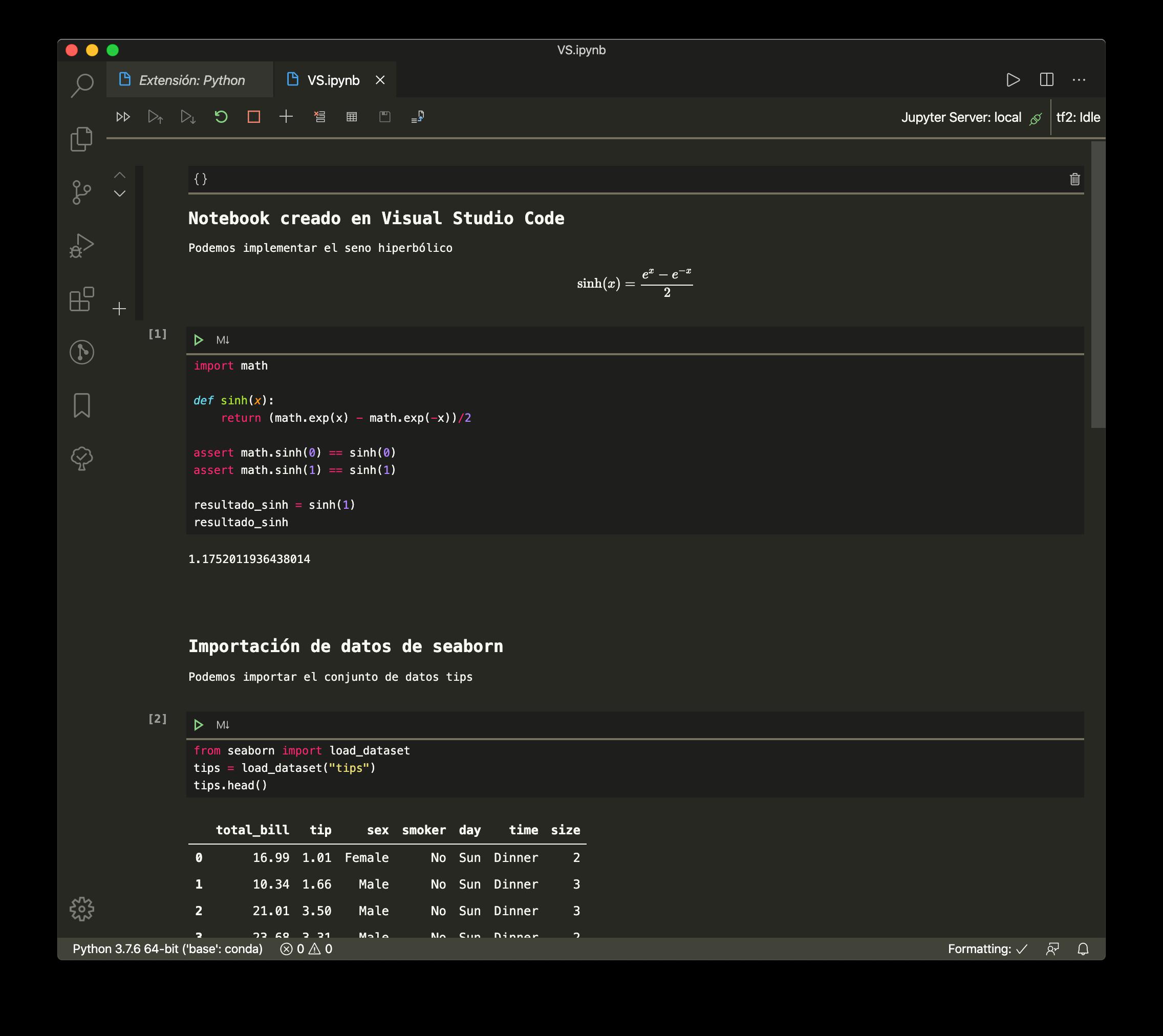 Jupyter Notebooks en Visual Studio Code