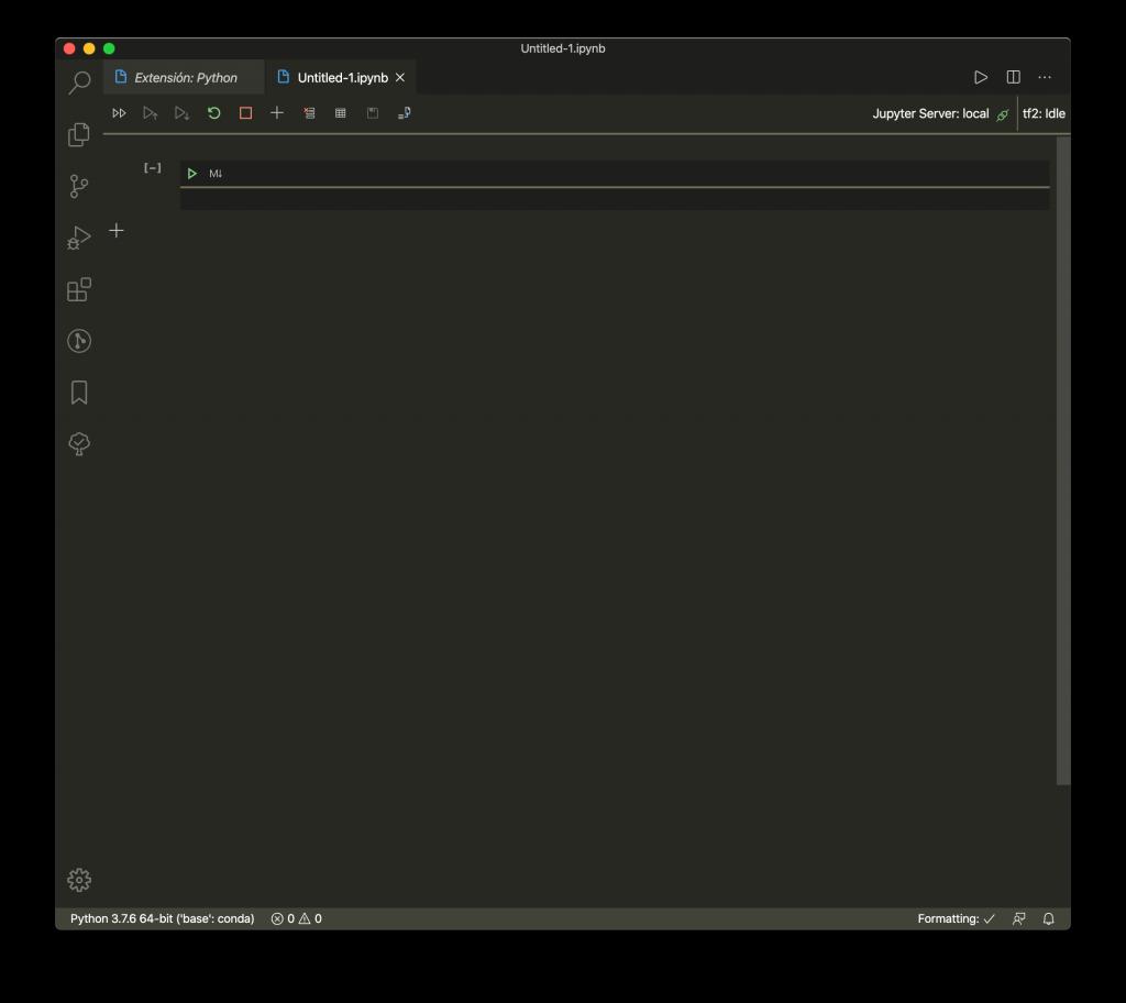 Notebook en Visual Studio Code