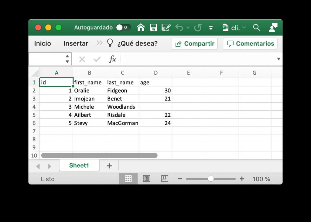 Archivo Excel creado con Julia