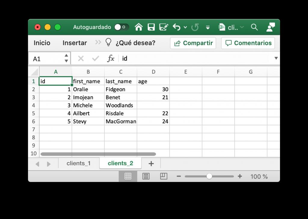 Archivo Excel con múltiples hojas creado con Julia