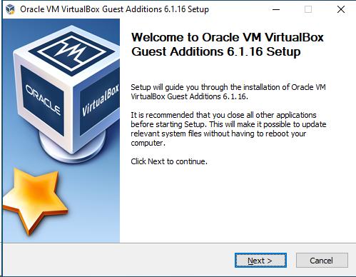 Asistente de instalación de VirtualBox Extension Pack en la máquina huésped