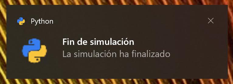 Notificación con iconos en Windows